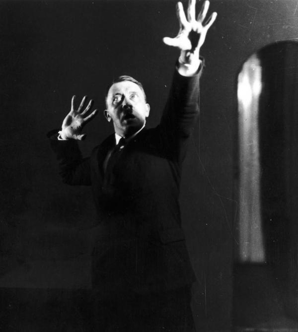 Hitler rehearsing his public speeches in front of the mirror 1